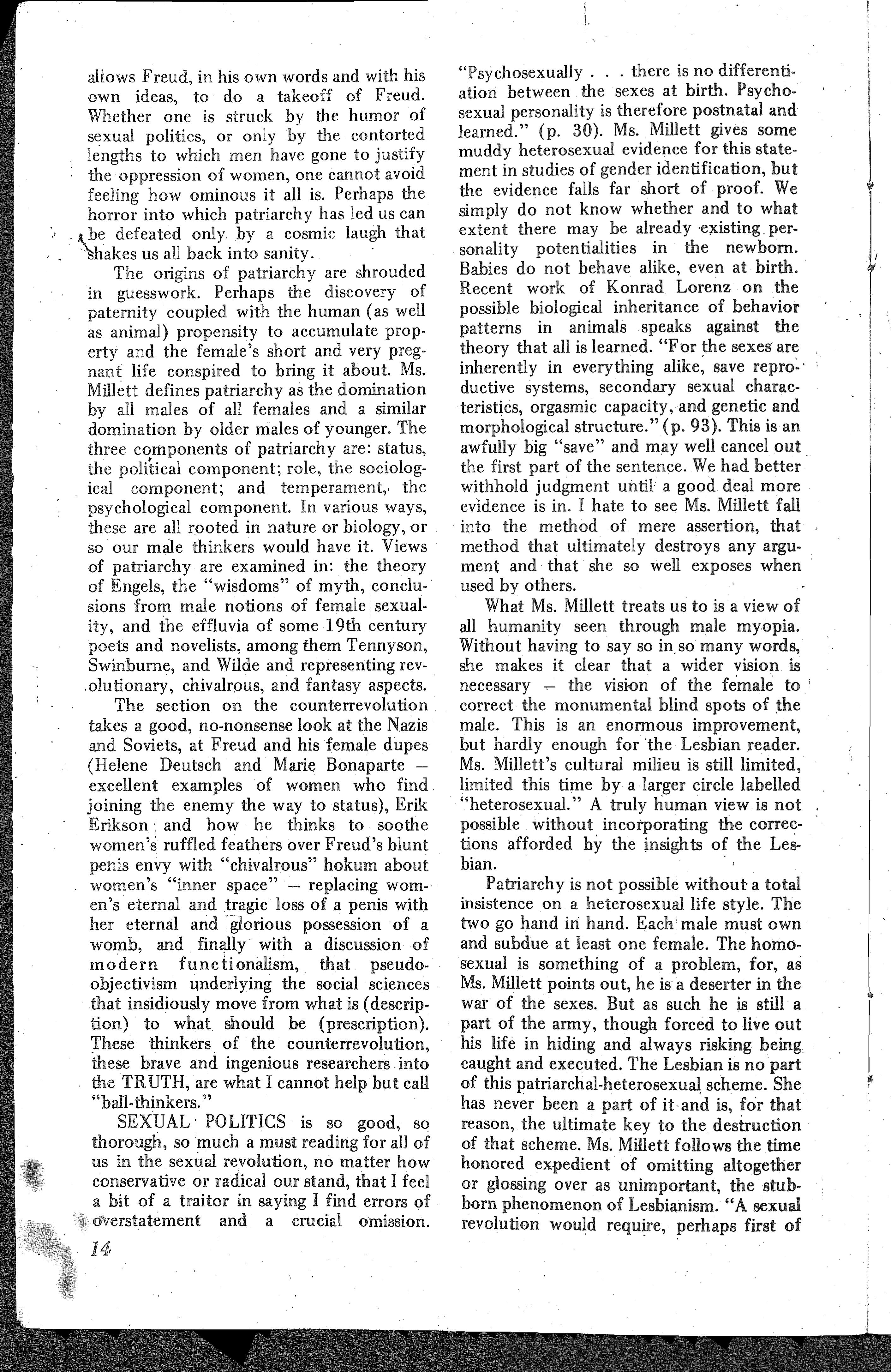 The Ladder, October-November 1970, Vol  15, No  1 and 2